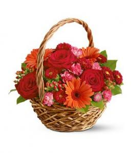 Basket of Joy Flower Basket